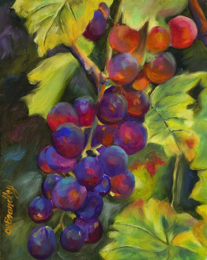 Grapes Painting - Grapevine by Chris Brandley