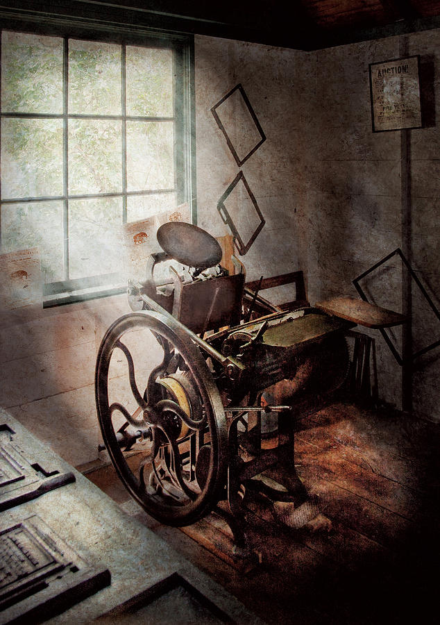 Graphic Artist Photograph - Graphic Artist - The Humble Printing Press by Mike Savad