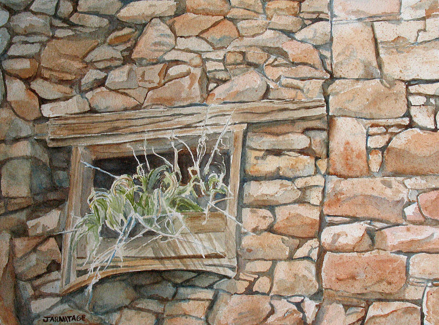 Wall Painting - Grass In The Window by Jenny Armitage