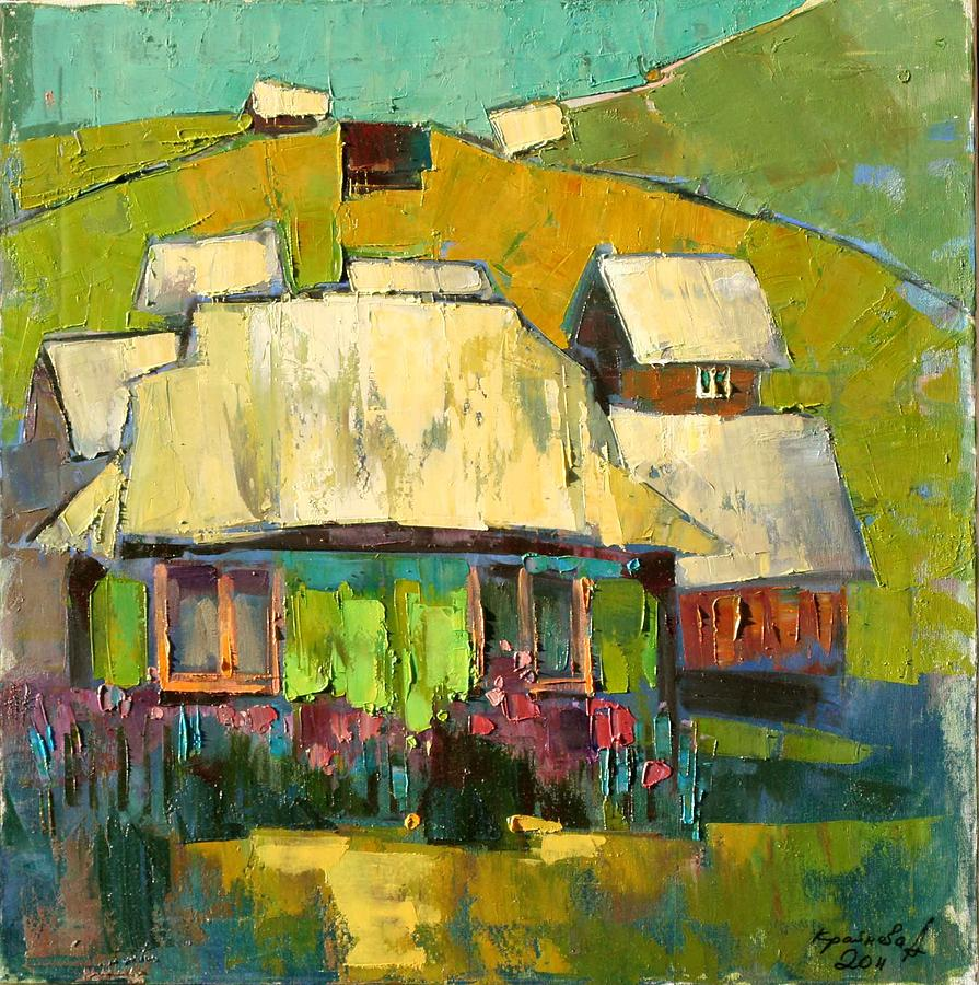 In The Yard Painting - Grass In The Yard by Anastasija Kraineva