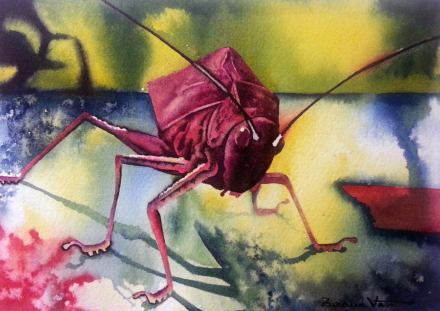 Grasshoper Painting - Grasshoper by Zuzana Vass
