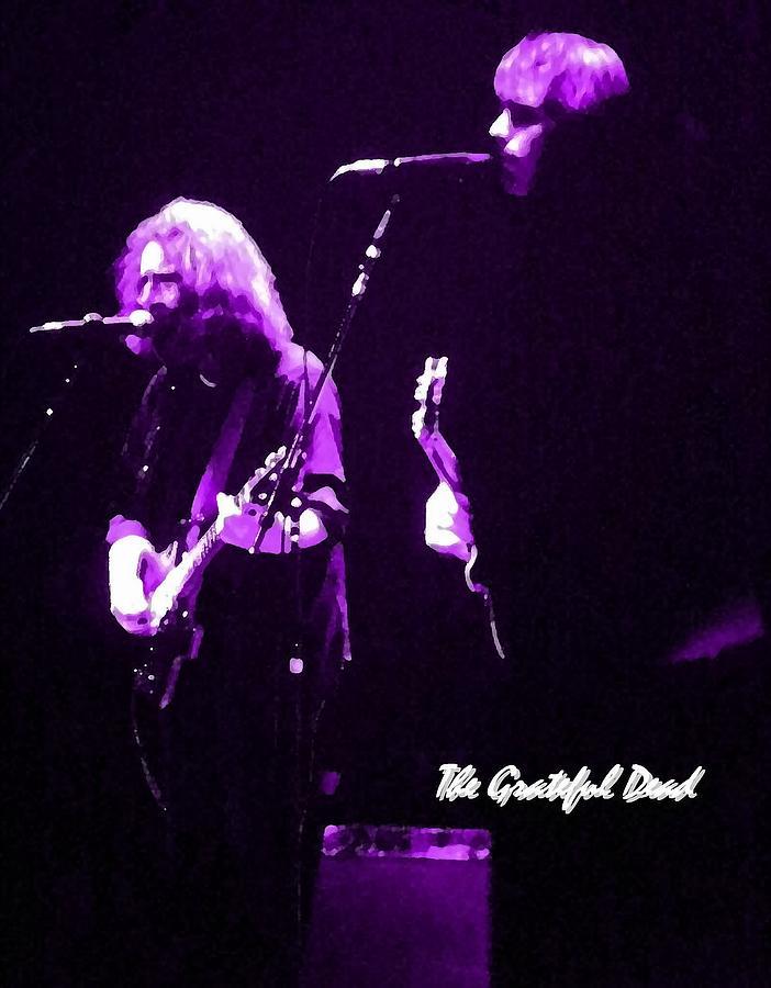 Jerry Photograph - Grateful Dead In Purple - Concerts by Susan Carella