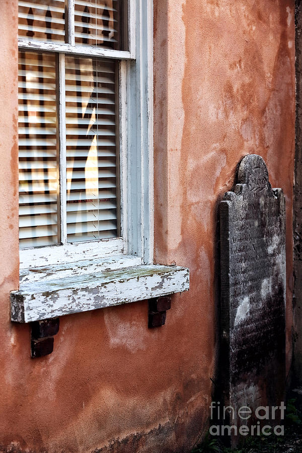 Grave By The Window Photograph - Grave By The Window by John Rizzuto