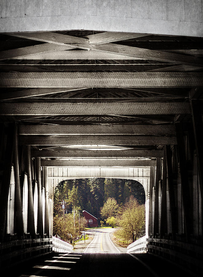 Bridge Photograph - Grave Creek Covered Bridge by Melanie Lankford Photography