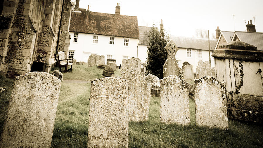 Cemetery Photograph - Grave Yard by Tom Gowanlock