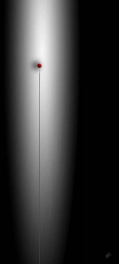Geometric Abstract Digital Art - Gravity Rules II by Ben and Raisa Gertsberg