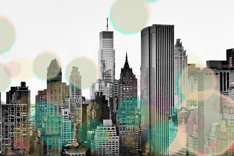Gray Digital Art - Gray City Beams by Susan Bryant