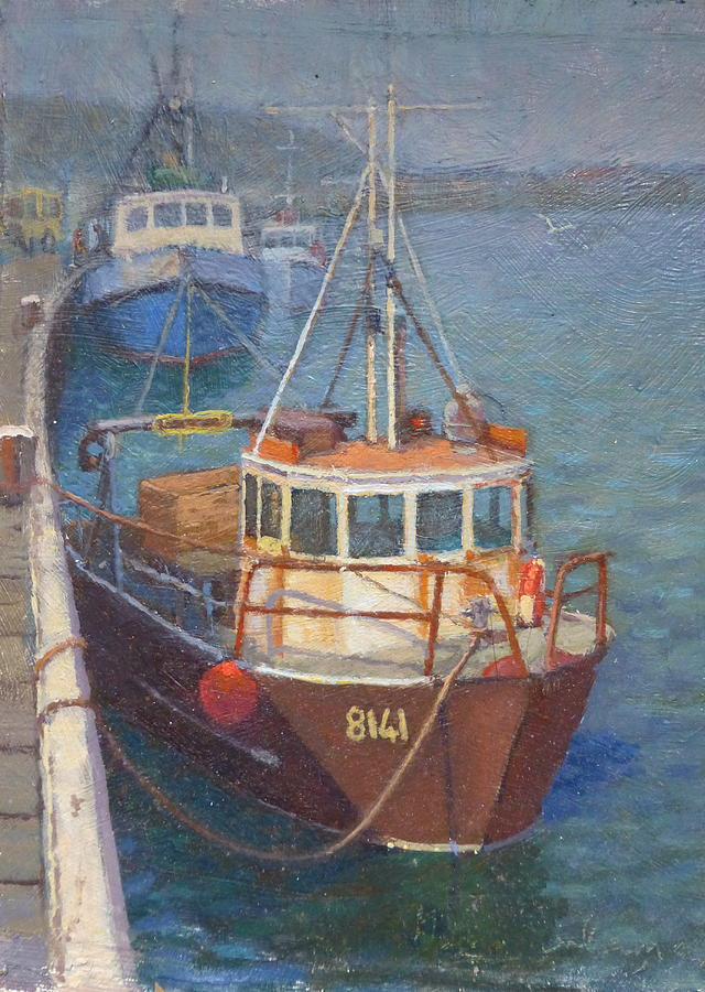 Boats Painting - Gray Mouth 1980s by Terry Perham