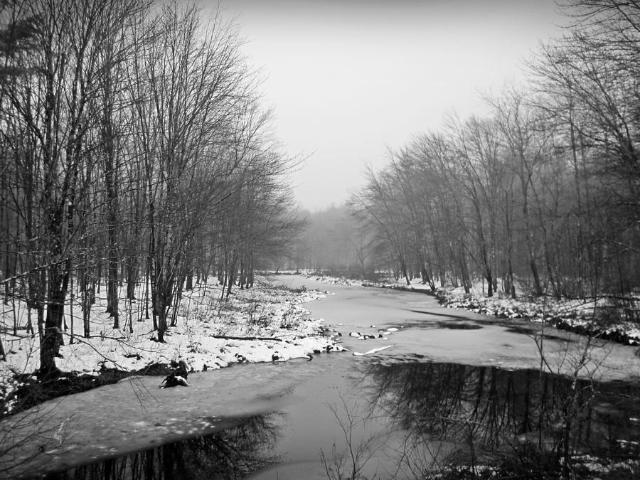Landscape Photograph - Gray Stream by MTBobbins Photography