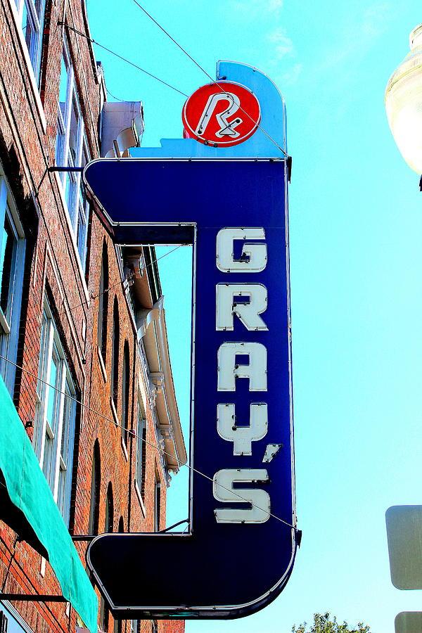 Pharmacies Photograph - Grays Rx by Anthony Jones