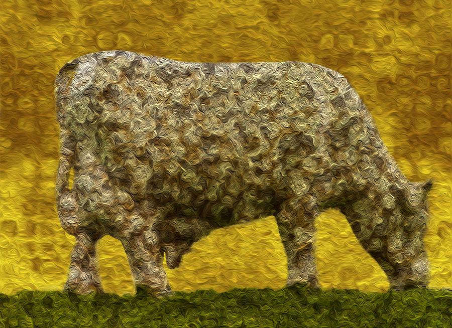 Digital Painting - Grazing 2 by Jack Zulli