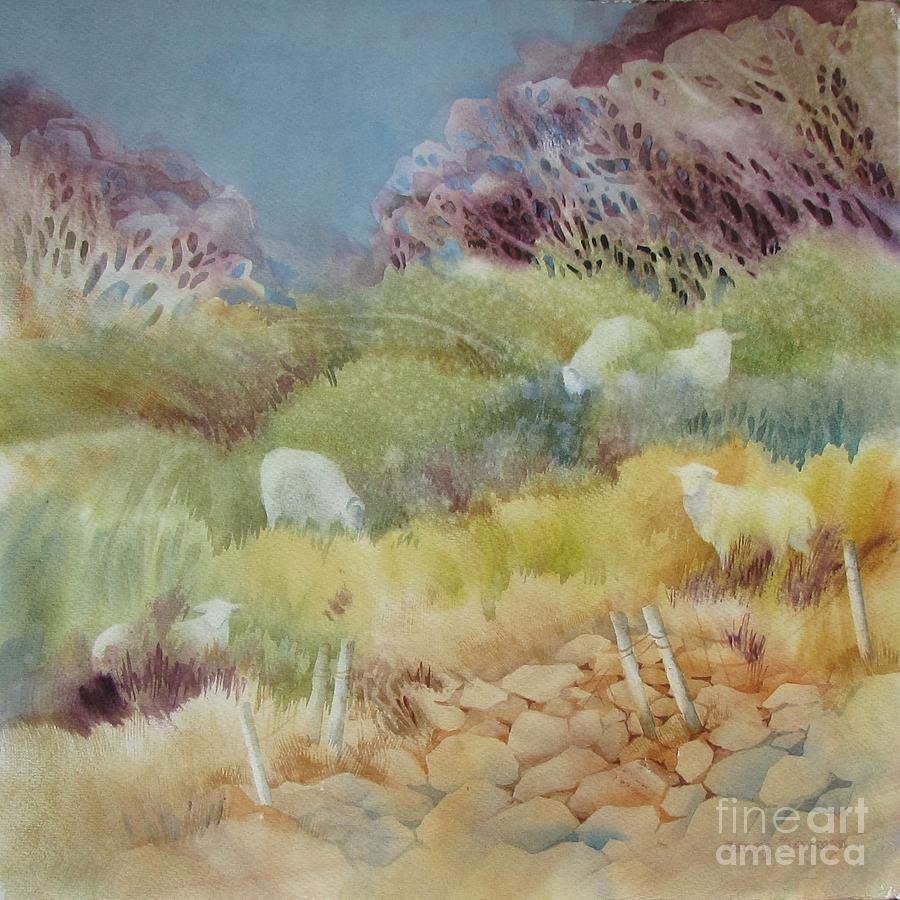 Ireland Painting - Grazing_in_the_grass by Nancy Newman