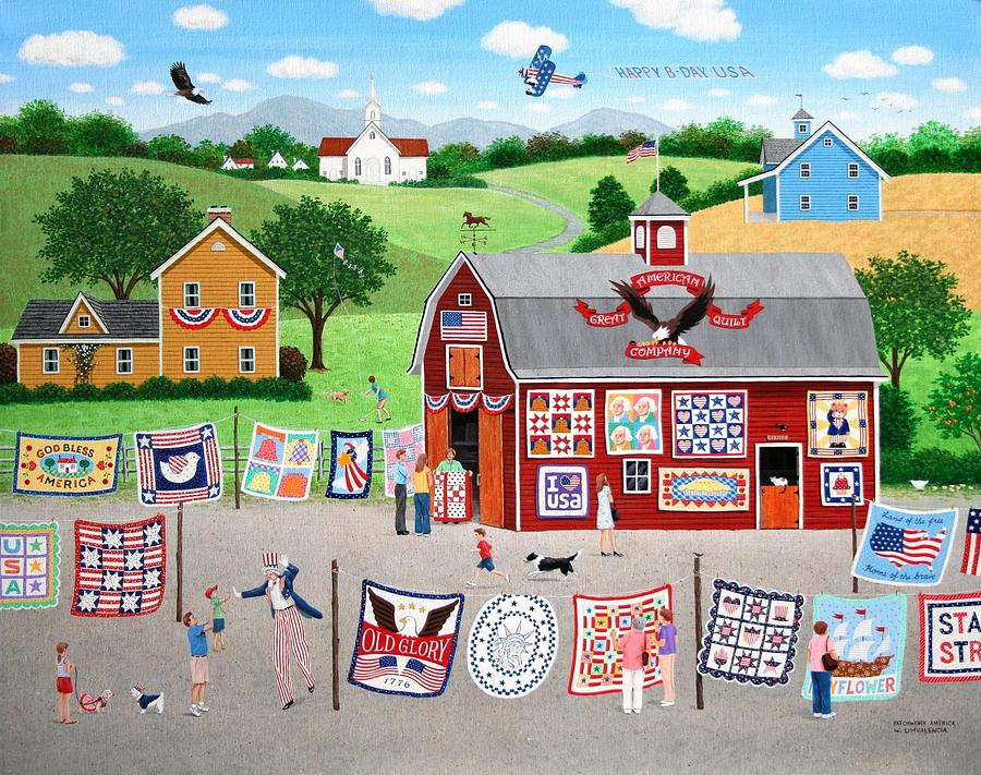 Quilt Painting - Great American Quilt Factory by Wilfrido Limvalencia