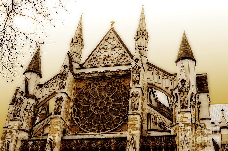 Westminster Photograph - Great Architecture Westminster Abbey by MaryJane Armstrong