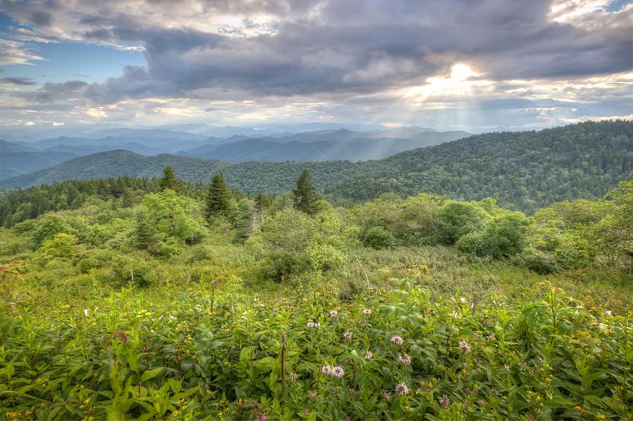 Sunbeams Photograph - Great Balsam Mountains by Doug McPherson