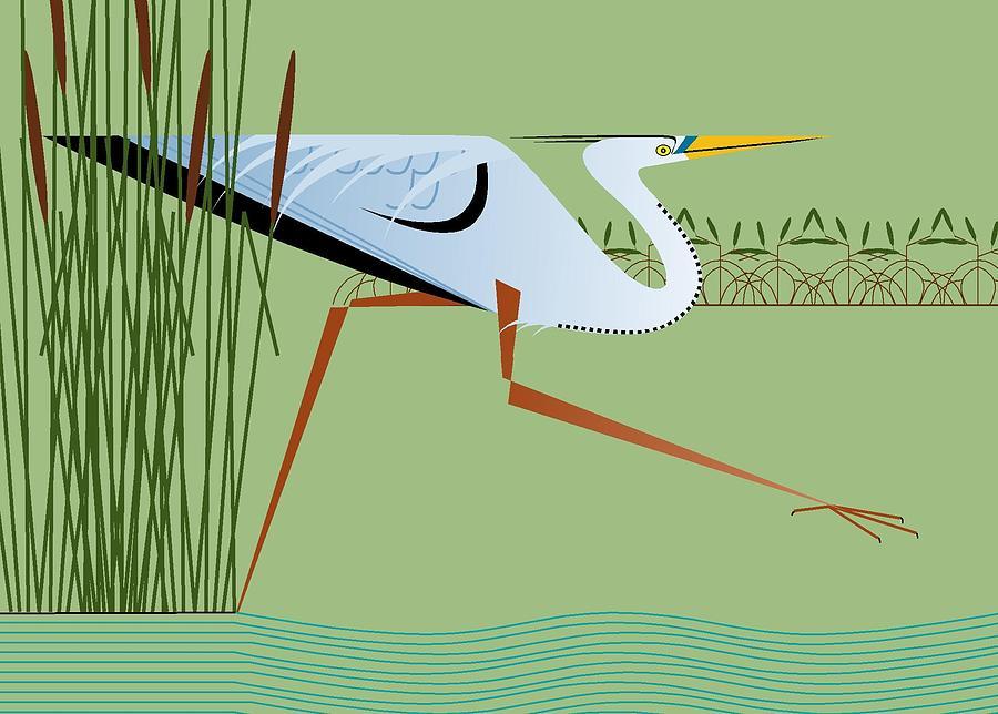 Great Blue Heron by Marie Sansone