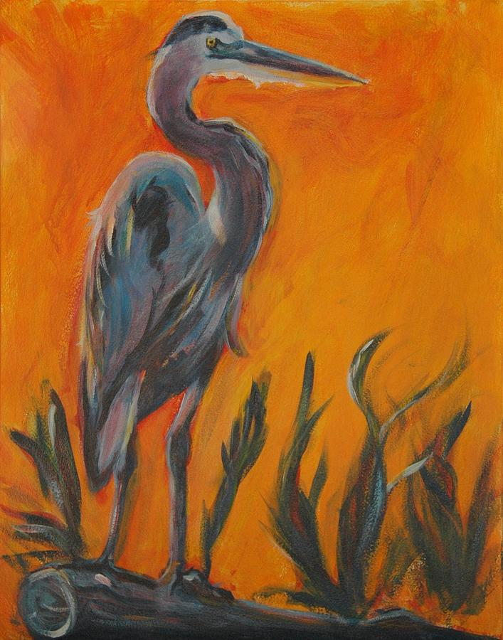 Wildlife Painting - Great Blue by Stephanie Allison