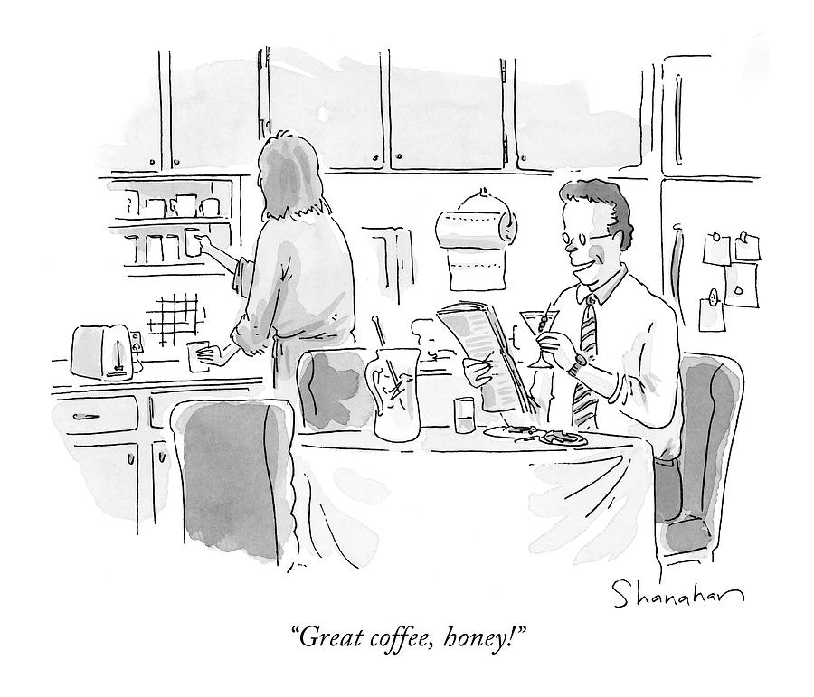 Great Coffee Drawing by Danny Shanahan