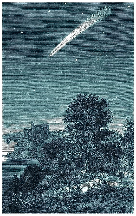 Astronomy Photograph - Great Comet Of 1811 by Detlev Van Ravenswaay