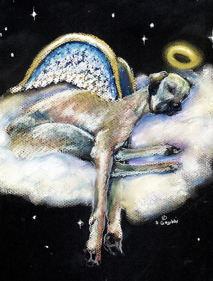Great Dane Pastel - Great Dane Angel Leggy by Darlene Grubbs