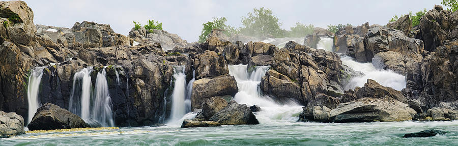 Great Falls Panoramic Photograph by Ogphoto