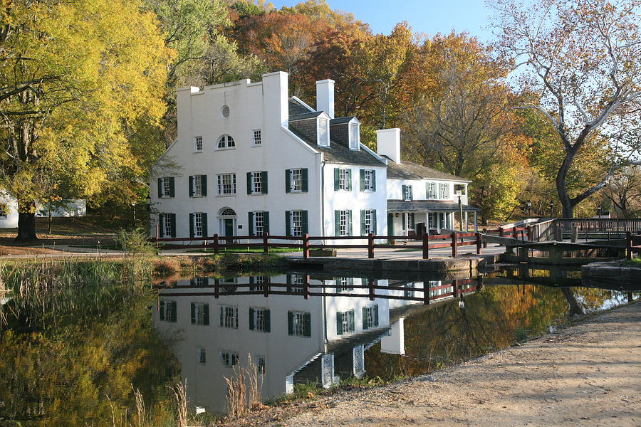 Canal Photograph - Great Falls Tavern by Jerry Tompkins