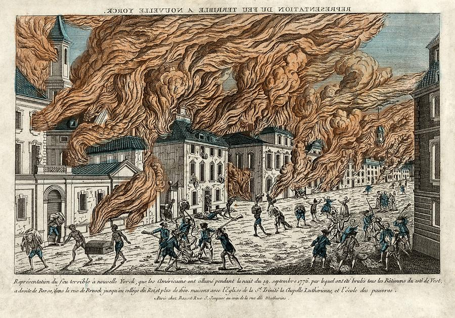 Great Fire Of New York Photograph - Great Fire Of New York, 1776 by Science Photo Library