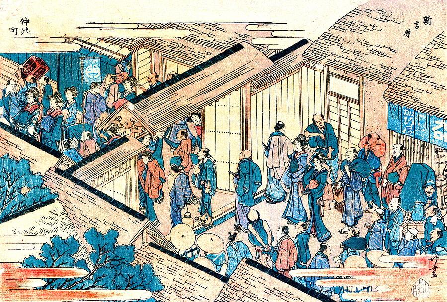 Ukiyo-e Photograph - Great Gate New Yoshiwara 1811 by Padre Art