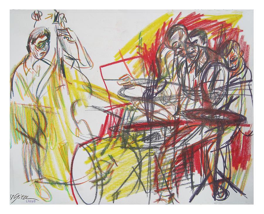 Twentieth Drawing - Great Jazz by Gita Lloyd