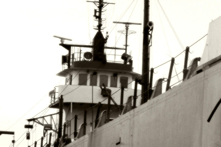 Ship Photograph - Great Lakes Freighter by Michael Allen