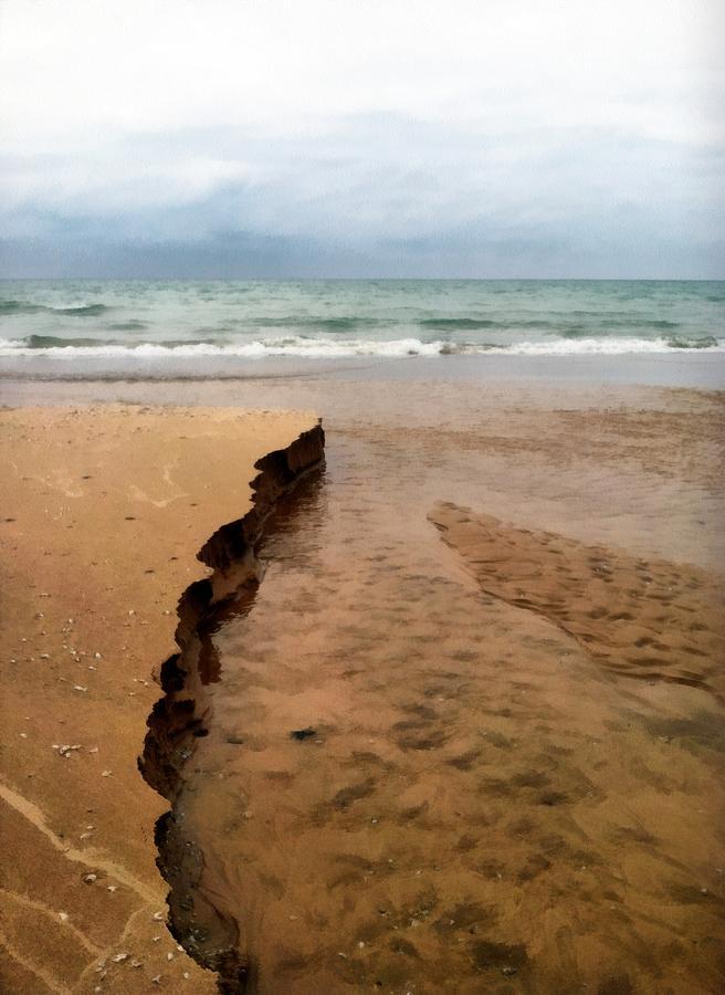 Lake Michigan Photograph - Great Lakes Shoreline by Michelle Calkins