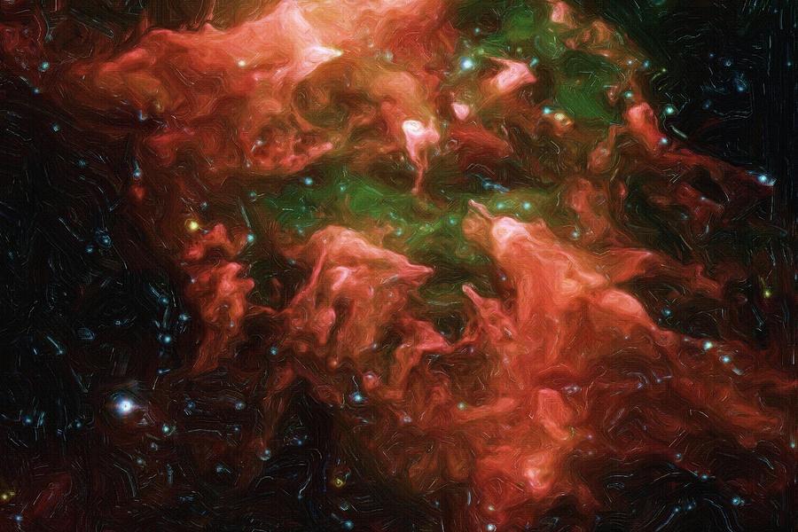 Nebula Painting - Great Nebula In Carina by Inspirowl Design