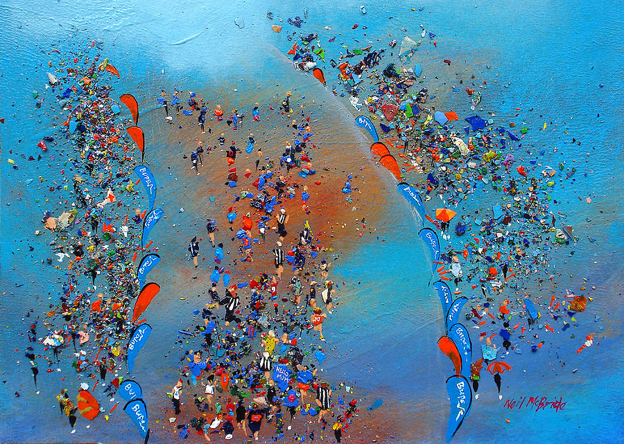 Paint Painting - Great North Run by Neil McBride