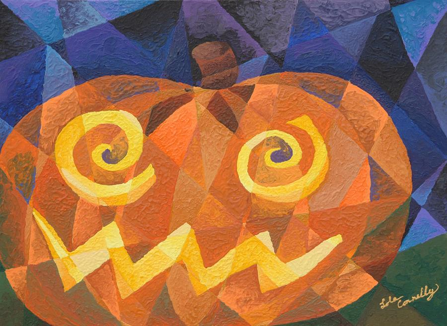 Cubism Painting - Great Pumpkin by Lola Connelly