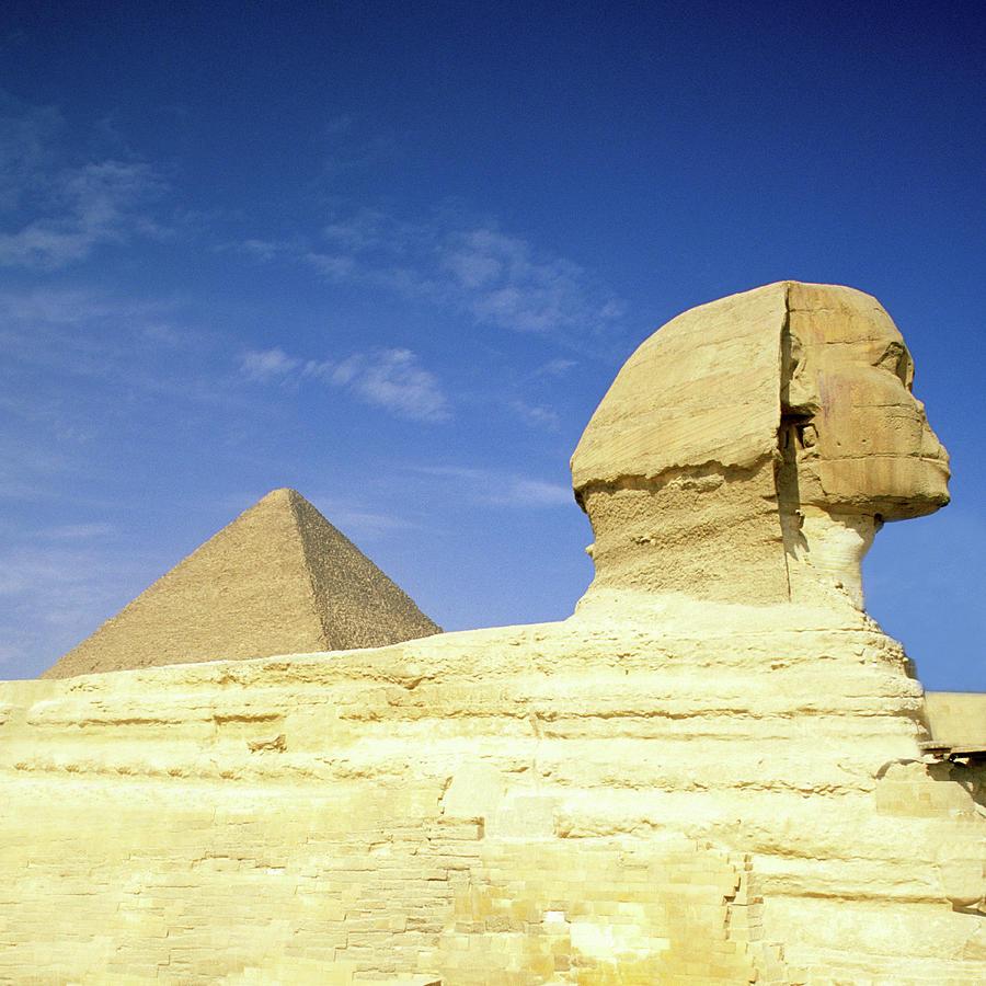 Great Pyramid Of Giza And The Sphinx Photograph by Hisham Ibrahim