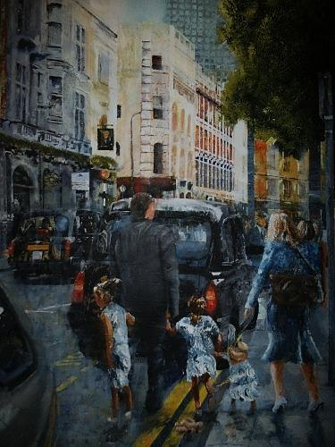 London Cityscape Painting - Sold Great Russell St London by Paul McIntyre