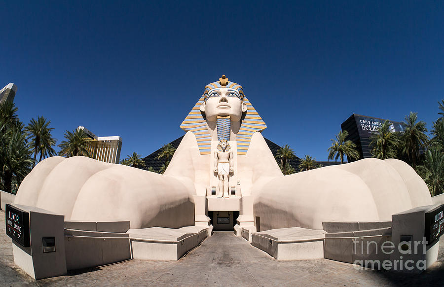 Luxor Photograph - Great Sphinx Of Giza Luxor Resort Las Vegas by Edward Fielding