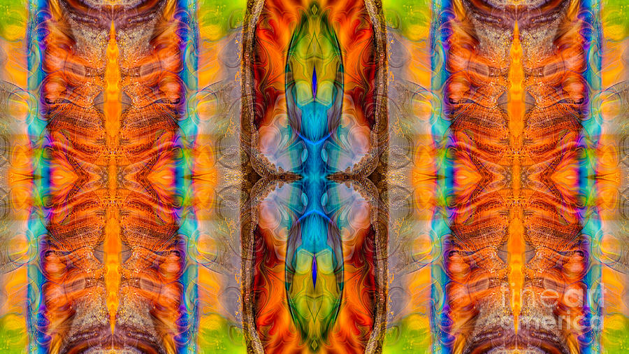 16x9 Digital Art - Great Spirit Abstract Pattern Artwork By Omaste Witkowski by Omaste Witkowski