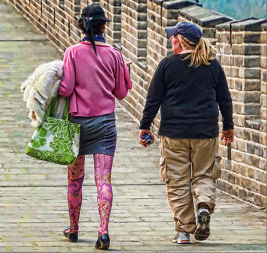 Great Wall Photograph - Great Tights by Cathy Anderson