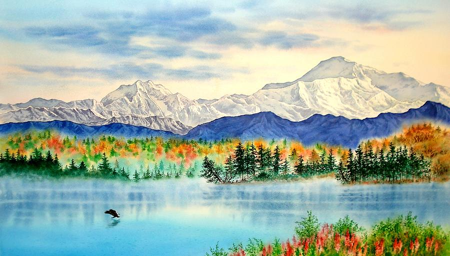Alaska Painting - Great View by John YATO