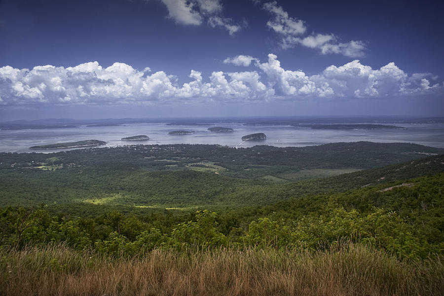Landscape Photograph - Great View On Top Of Cadilac Mountain by Randall Nyhof