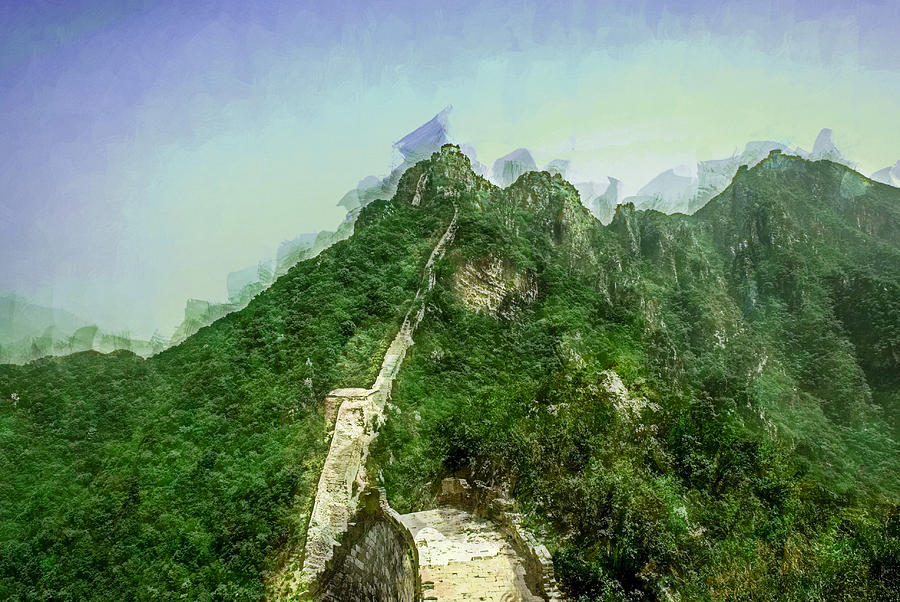Asia Digital Art - Great Wall 0033 - Academic Sl by David Lange
