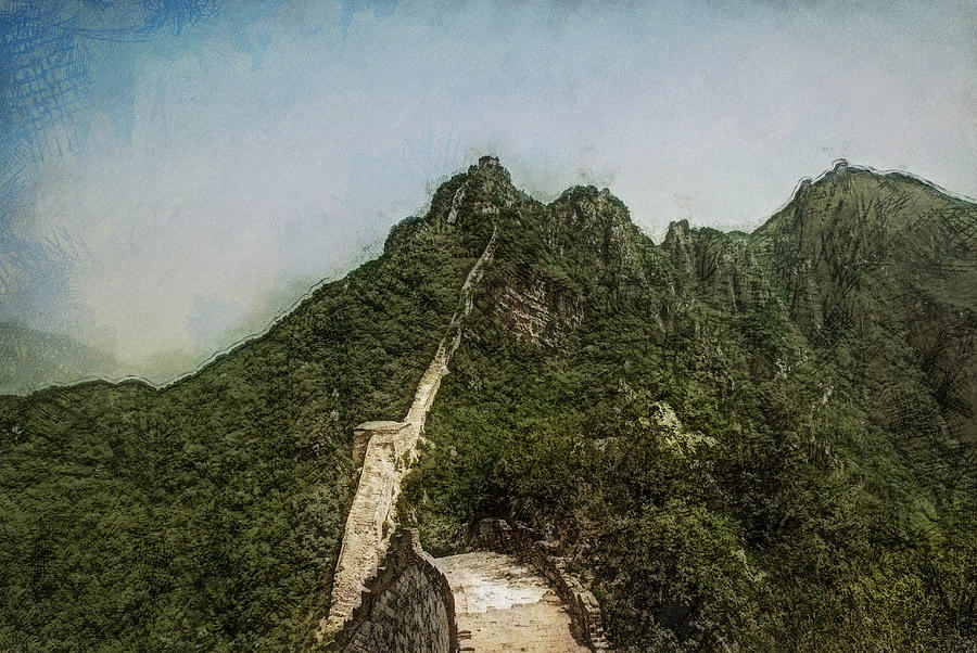 Asia Digital Art - Great Wall 0033 - Lux Sl by David Lange