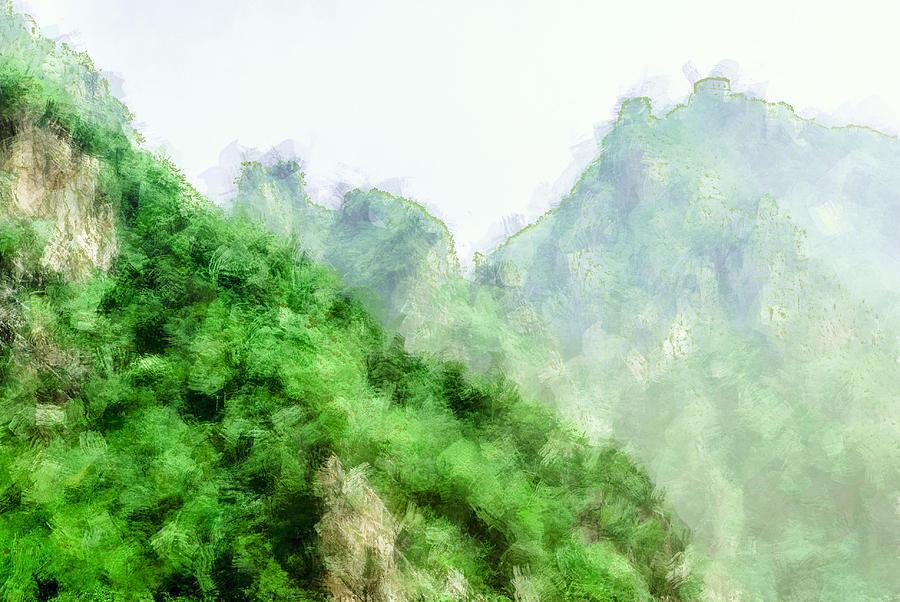 Asia Digital Art - Great Wall 0043 - Academic by David Lange