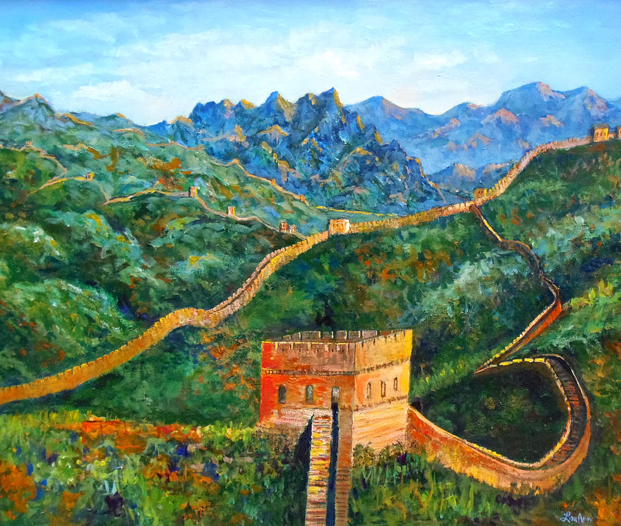 Great Wall Painting - Great Wall by Lou Ann Bagnall