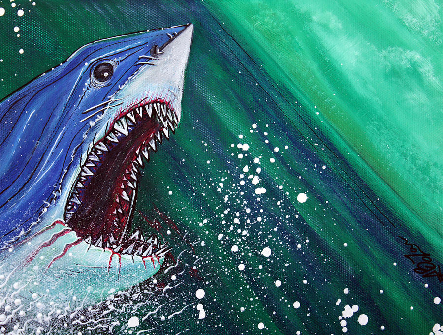 Great White Gauntlet Painting by Laura Barbosa