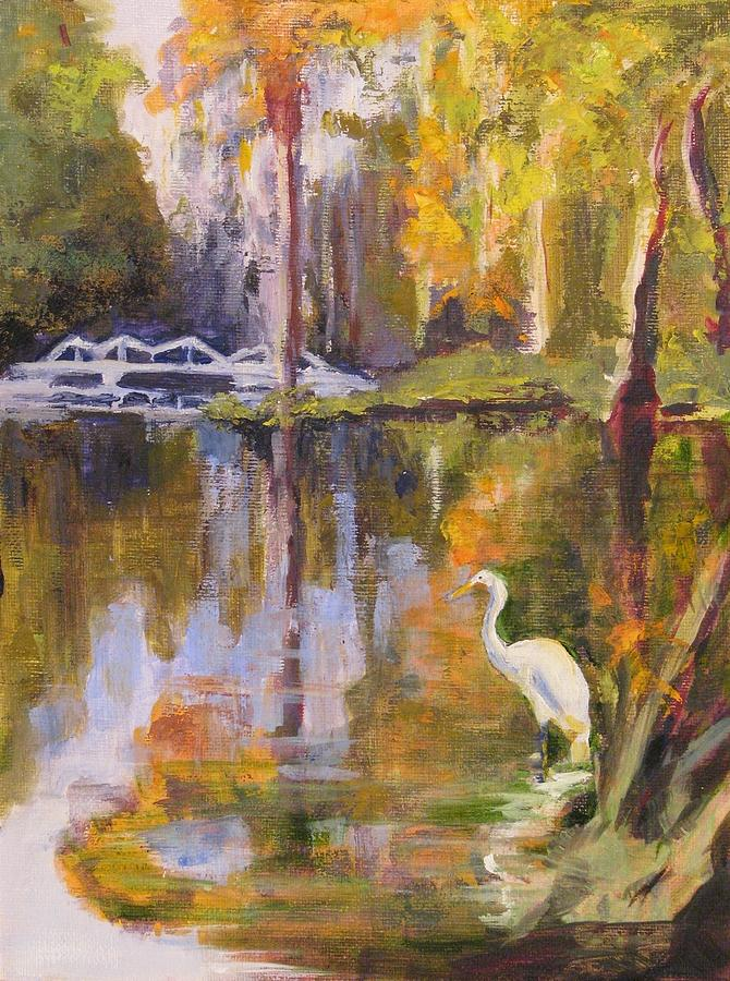 Landscape Painting - Great White Hunter by Cecelia Campbell