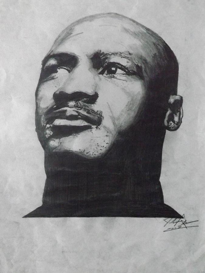 Jordan Drawing - Greatest by Joshua Robinson