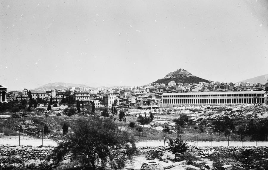 Agora Photograph - Greece Athens Agora by Granger
