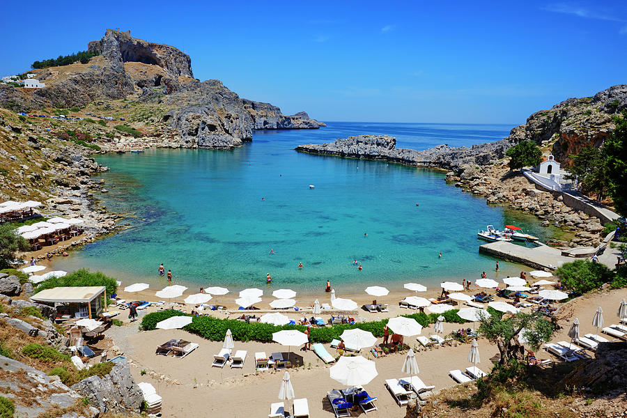 Greece, Dodecanese, Rhodes, Lindos, St Photograph by Tuul & Bruno Morandi